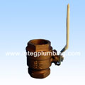Bronze Ball Valve With Side Drain